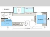 Floorplan - 2012 Jayco Jay Flight Swift 267BHS