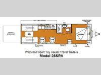 Floorplan - 2013 Forest River RV Wildwood SRV 28SRV