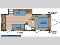 Floorplan - 2013 KZ Spree 261RKS