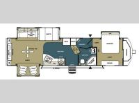 Floorplan - 2013 Forest River RV Wildwood Heritage Glen 316RETS