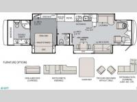 Floorplan - 2013 Holiday Rambler Endeavor 43 DFT