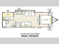 Floorplan - 2013 Forest River RV Salem Cruise Lite 281BHXL