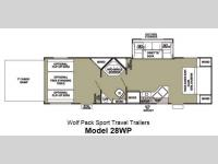 Floorplan - 2013 Forest River RV Cherokee Wolf Pack Sport 28WP