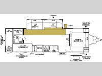 Floorplan - 2007 Forest River RV Wildwood LE 28BGSS