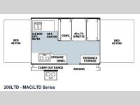 Floorplan - 2013 Forest River RV Flagstaff MAC LTD Series 206LTD