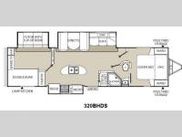 Floorplan - 2013 Coachmen RV Freedom Express 320BHDS