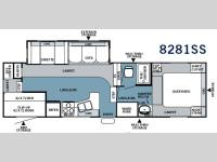 Floorplan - 2007 Forest River RV Rockwood 8281SS
