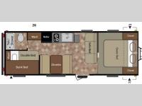 Floorplan - 2013 Keystone RV Fireside 26