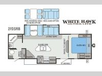 Floorplan - 2013 Jayco White Hawk 27DSRB