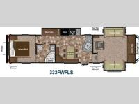 Floorplan - 2013 Keystone RV Sprinter Copper Canyon 333FWFLS