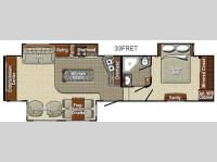 Floorplan - 2013 Yellowstone RV Canyon Trail 33FRET Advanced Profile