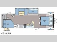 Floorplan - 2013 Dutchmen RV Coleman Explorer CTU281BH