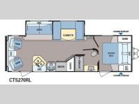 Floorplan - 2013 Dutchmen RV Coleman Expedition CTS270RL