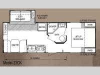 Floorplan - 2013 Skyline Walkabout 23CK