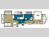 Floorplan - 2013 Forest River RV Sandpiper 355RE