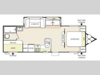 Floorplan - 2013 Forest River RV Salem 27DBUD