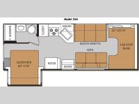 Floorplan - 2013 Thor Motor Coach Four Winds 26A