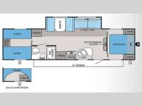 Floorplan - 2013 Jayco Jay Flight Swift 294BHS