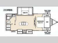 Floorplan - 2013 Coachmen RV Freedom Express 233RBS