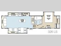 Floorplan - 2013 Coachmen RV Brookstone Ruby 326LS