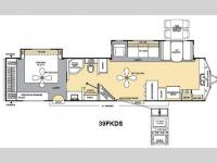 Floorplan - 2013 Coachmen RV Catalina Destination Series 39FKDS