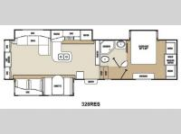 Floorplan - 2013 Coachmen RV Chaparral 328RES
