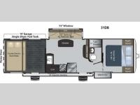 Floorplan - 2013 Keystone RV Raptor 31DS