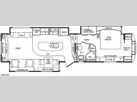 Floorplan - 2014 DRV Luxury Suites Mobile Suites 38 SKSB3