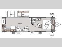 Floorplan - 2014 Forest River RV Wildwood 27RKSS