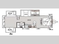 Floorplan - 2014 Forest River RV Wildwood 31KQBTS