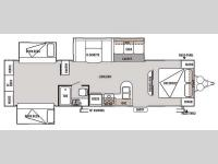 Floorplan - 2014 Forest River RV Wildwood 31QBTS