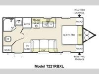 Floorplan - 2014 Forest River RV Wildwood X-Lite 221RBXL