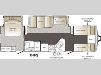 Floorplan - 2014 Keystone RV Outback 301BQ