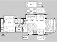Floorplan - 2007 Winnebago Tour 36LD NEW