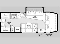 Floorplan - 2007 Winnebago View 23H