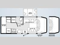 Floorplan - 2007 Winnebago View 23B