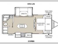 Floorplan - 2014 Coachmen RV Freedom Express 233RBS