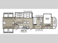 Floorplan - 2014 Forest River RV Wildcat 344QB
