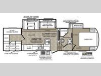 Floorplan - 2014 Forest River RV Wildcat 312BHX eXtraLite