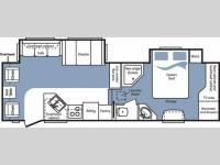 Floorplan - 2007 Keystone RV Cougar 291RLS