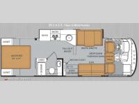Floorplan - 2014 Thor Motor Coach ACE 29 2