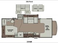 Floorplan - 2014 Coachmen RV Leprechaun 220QB Ford 350