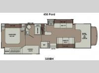 Floorplan - 2014 Coachmen RV Leprechaun 320BH Ford 450