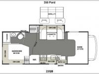 Floorplan - 2014 Coachmen RV Freelander 22QB Ford 350