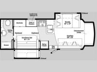 Floorplan - 2007 Itasca Cambria 29H
