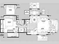 Floorplan - 2007 Itasca Horizon 40KD