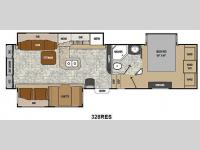 Floorplan - 2014 Coachmen RV Chaparral 328RES