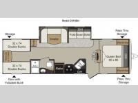 Floorplan - 2014 Keystone RV Passport 2910BH Grand Touring