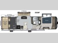 Floorplan - 2014 Keystone RV Raptor 300MP