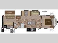 Floorplan - 2014 Keystone RV Sprinter 316BIK